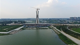 """中国首座""""鼎""""形斜拉桥亮相:重6000吨"""